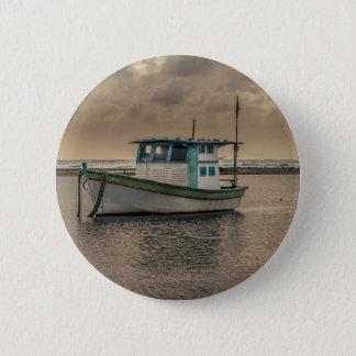 Bóton Redondo 5.08cm Navio pequeno no oceano Porto Galinhas Brasil
