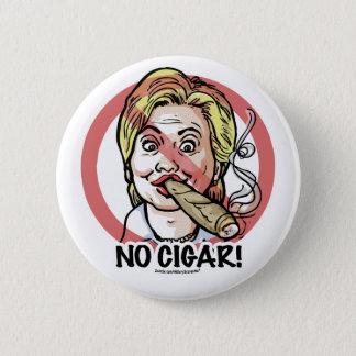 Bóton Redondo 5.08cm Nenhum botão de Anti-Hillary do charuto