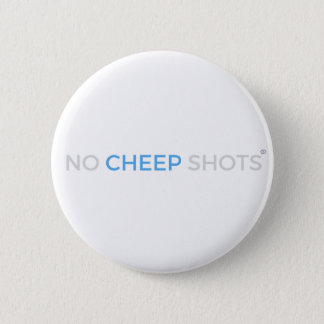 Bóton Redondo 5.08cm Nenhum branco do botão do t-shirt dos tiros do