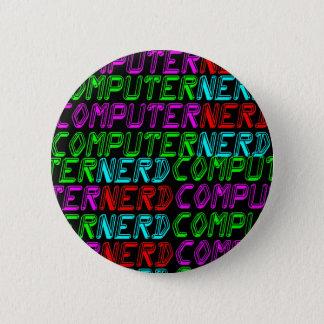 Bóton Redondo 5.08cm NERD RETRO do COMPUTADOR dos anos 80 do TIGRE de