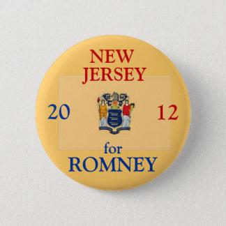 Bóton Redondo 5.08cm New-jersey para Romney 2012