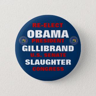 Bóton Redondo 5.08cm New York para a chacina de Obama Gillibrand