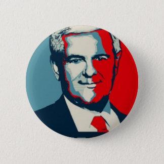 Bóton Redondo 5.08cm Newt Gingrich 2012