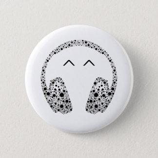 Bóton Redondo 5.08cm No1 do botão da música dos auriculares do DJ