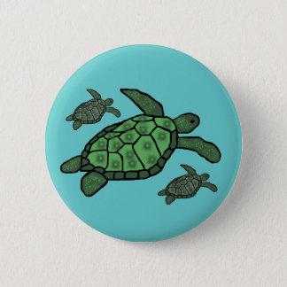 Bóton Redondo 5.08cm No botão triplo das tartarugas de mar