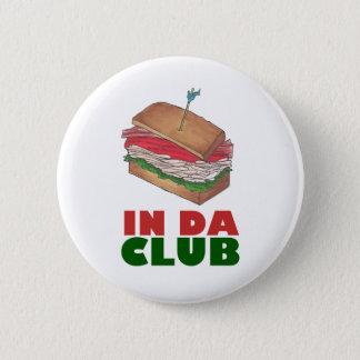 Bóton Redondo 5.08cm No comensal engraçado de Foodie do sanduíche de