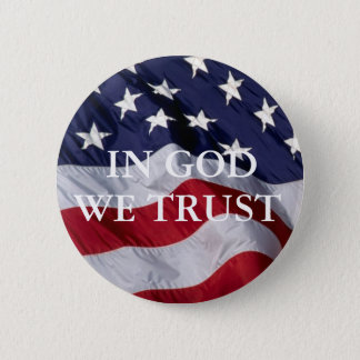 """Bóton Redondo 5.08cm No deus nós confiamos - 2,25"""" botão de Pinback"""