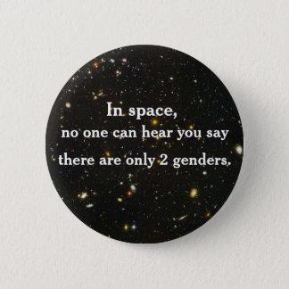 Bóton Redondo 5.08cm No espaço, ninguém pode ouvi-lo dizer…