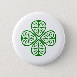 Bóton Redondo 5.08cm nó verde do céltico do trevo