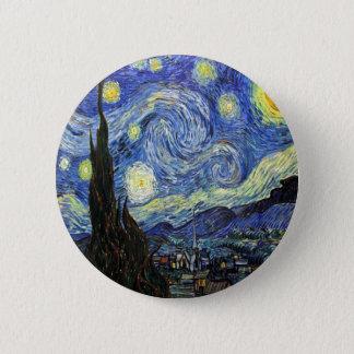 Bóton Redondo 5.08cm Noite estrelado por Vincent van Gogh 1889