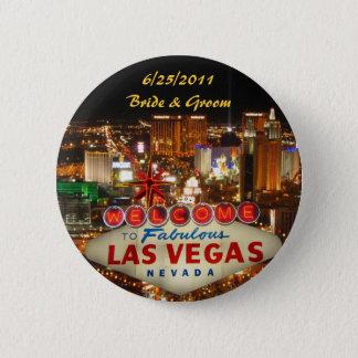 Bóton Redondo 5.08cm Noiva da tira de Las Vegas & botão do noivo