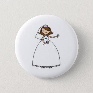 Bóton Redondo 5.08cm Noiva de Blingy que Wedding o Pin de Bachelorette