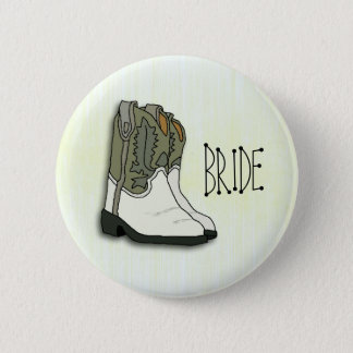 Bóton Redondo 5.08cm Noiva ocidental selvagem que Wedding o Pin
