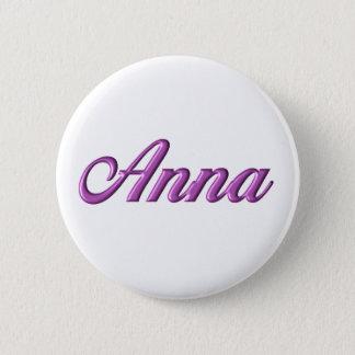 Bóton Redondo 5.08cm Nome do botão de Anna barato
