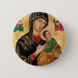 Bóton Redondo 5.08cm Nossa senhora da arte perpétua da Virgem Maria do