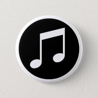 Bóton Redondo 5.08cm Notas da música