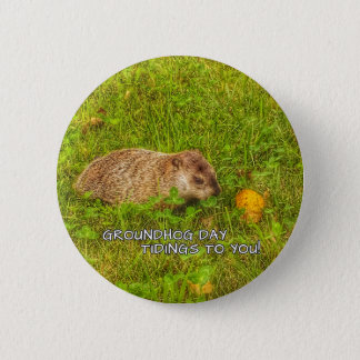 Bóton Redondo 5.08cm Notícias do dia de Groundhog a você! botão