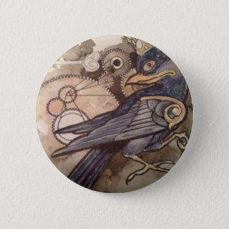 Bóton Redondo 5.08cm nove corvo do botão 3 do tatuagem do olho