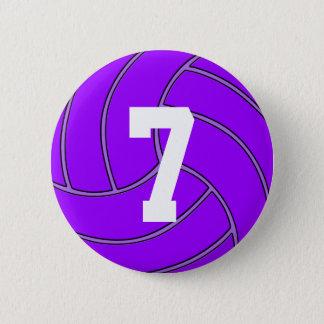 Bóton Redondo 5.08cm Número do jérsei do voleibol ou Pin roxo das