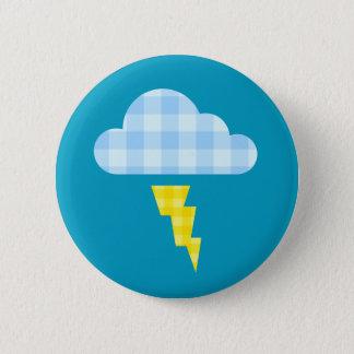 Bóton Redondo 5.08cm Nuvem de tempestade da xadrez e parafuso de