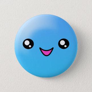 Bóton Redondo 5.08cm O açúcar de Kawaii pontilha o botão feliz da cara