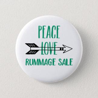 Bóton Redondo 5.08cm O amor da paz Rummage o botão da venda