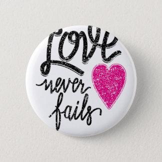 Bóton Redondo 5.08cm o amor nunca falha, coração do vintage