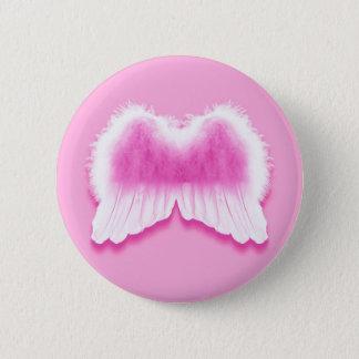 Bóton Redondo 5.08cm O anjo cor-de-rosa voa o botão redondo da polegada