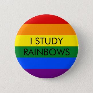 Bóton Redondo 5.08cm O arco-íris estuda o botão