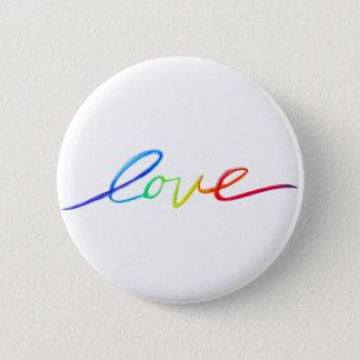 Bóton Redondo 5.08cm O arco-íris inspirado do amor exprime botões do