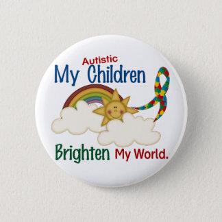 Bóton Redondo 5.08cm O autismo ILUMINA MINHAS crianças do MUNDO 1