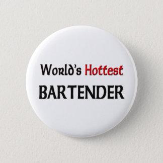 Bóton Redondo 5.08cm O barman o mais quente dos mundos
