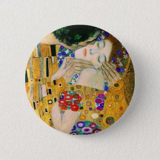Bóton Redondo 5.08cm O beijo por Gustavo Klimt
