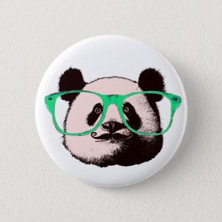 Bóton Redondo 5.08cm O bigode na moda dos vidros das caras do urso de