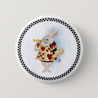 Bóton Redondo 5.08cm O botão branco do coelho
