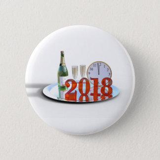 Bóton Redondo 5.08cm O botão do feliz ano novo 2018