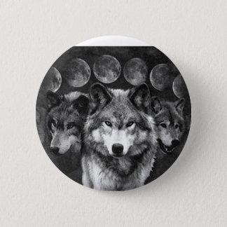 Bóton Redondo 5.08cm O botão do lobo