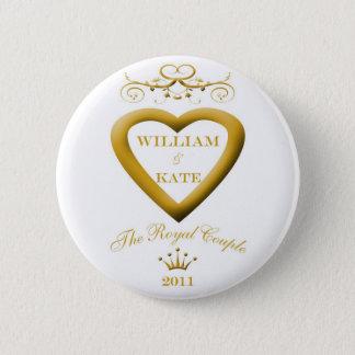 Bóton Redondo 5.08cm O casal real William e botão da lembrança de Kate