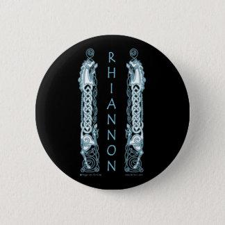 Bóton Redondo 5.08cm O cavalo celta de Rhiannon dos pinos e dos botões