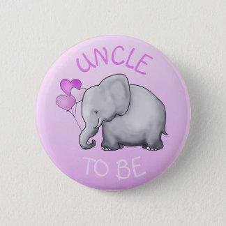 Bóton Redondo 5.08cm O chá de fraldas bonito cor-de-rosa do elefante
