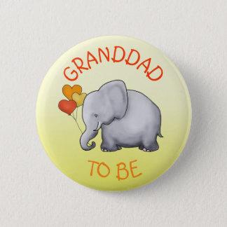 Bóton Redondo 5.08cm O chá de fraldas bonito do elefante dos balões