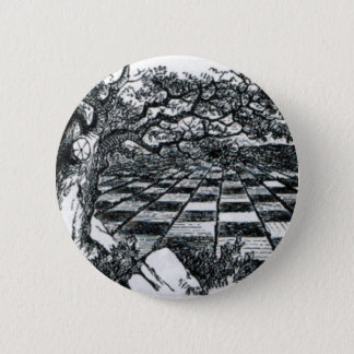 Bóton Redondo 5.08cm O conselho de xadrez no país das maravilhas