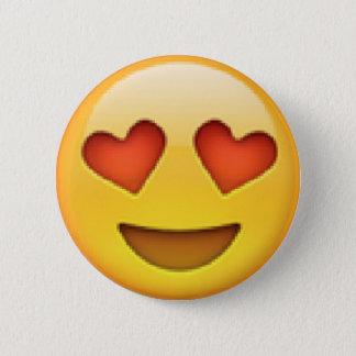 Bóton Redondo 5.08cm O coração Eyes o botão de Emoji