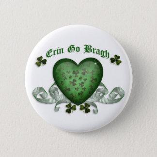 Bóton Redondo 5.08cm O coração irlandês Erin vai coração verde de Bragh