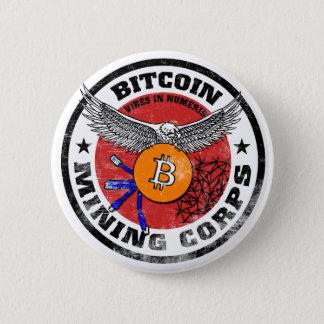 Bóton Redondo 5.08cm O corpo da mineração de Bitcoin - versão corajoso