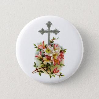 Bóton Redondo 5.08cm O cristão cruza 1 pino