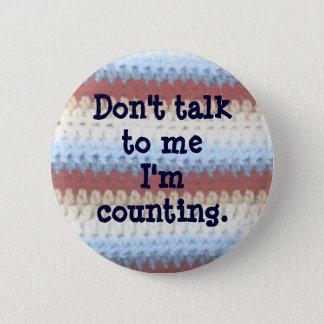 Bóton Redondo 5.08cm O Crochet listra o botão