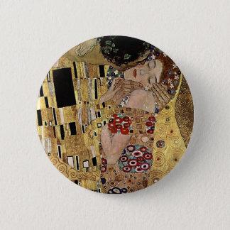 Bóton Redondo 5.08cm O detalhe do beijo de Gustavo Klimt (cerca de
