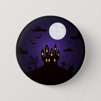 Bóton Redondo 5.08cm O Dia das Bruxas - botão do castelo de Dracula