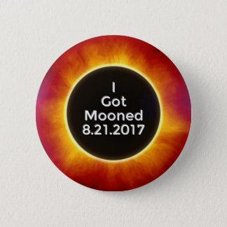Bóton Redondo 5.08cm O eclipse solar americano obtem o 21 de agosto de